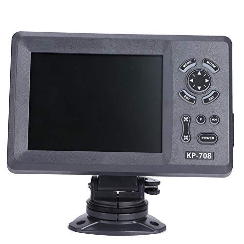Fockety Navigazione GPS Marina, Plotter cartografico di Navigazione LCD colorato 7In con Antenna GPS Interna, Posizione di aggiornamento GPS in Tempo Reale Funzioni Multiple Navigatore Marino