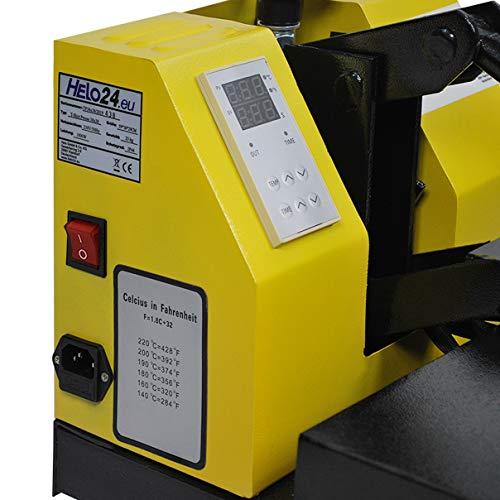 HELO Transferpresse 38 x 38 cm Standard mit Druckausgleichsfedern und verbesserter Hebeltechnik - 8