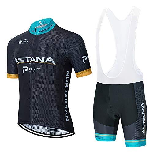 STEPANZU Abbigliamento Ciclismo Set Uomo Nuova Estivo Abbigliamento Sportivo MTB Bicicletta Maglia Manica Corta e Pantaloncini 3D Gel Cuscino