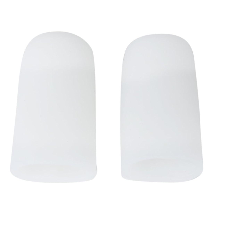 便利さ黒質量【Footful】足指保護キャップ つま先プロテクター 足先のつめ保護キャップ シリコン (L)