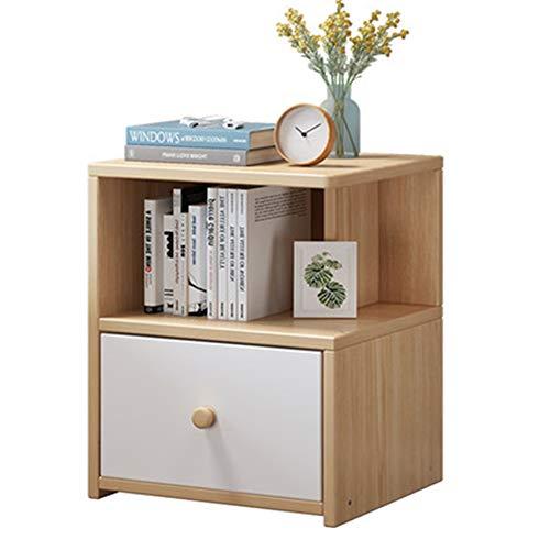 HJKH Bedside Cabinet Modern Bedside Cabinet Side Table Cabinet Assembly End Table Coffee Table Drawer Bedside Cabinet, (Color : Natural, Size : 36x34x47cm)
