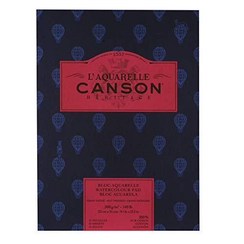 L'Aquarelle Canson Heritage Hot Press Watercolor Paper 140 Lb