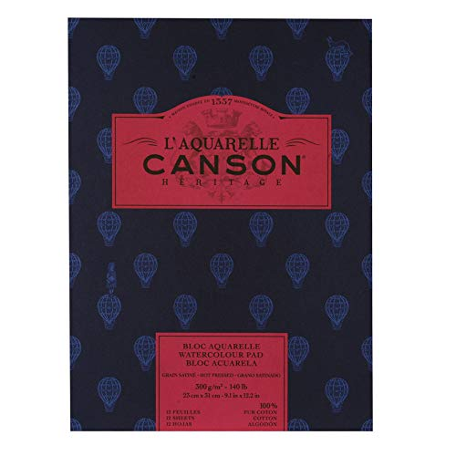 Canson Hot Press Heritage, White, 9-x-12-Inch
