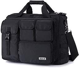 Lifewit 17 inch Men's Military Laptop Messenger Bag Multifunction Tactical Briefcase Computer Shoulder Handbags Pilot Bag, Black