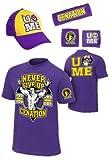 John Cena Mens Purple Costume Hat T-shirt Wristbands