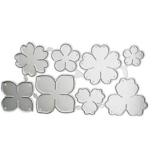 1 PCS Flower Metal 3D Die Cut Stencil Carbon Steel Die Little Flower Border Cut Die for Scrapbooking DIY Craft Photo Album Decor