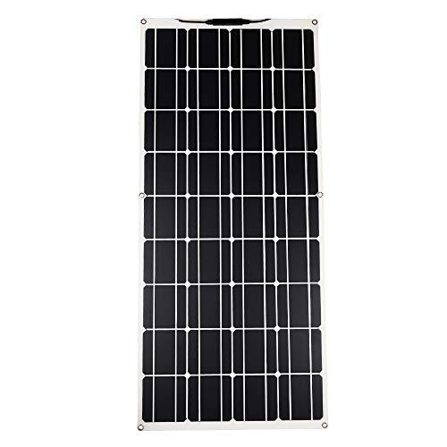 Betop-camp Panel Solar Fotovoltaico ETFE Monocristalino Semi Flexible de 100W Flex para RV, Barco, Tienda, Automóvil, Remolque, Batería 12V o Cualquier otra Superficie Irregular