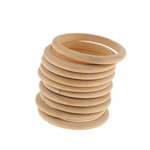 non-brand 10er Pack Armreif Holz Holzarmreif Rohling zum Basteln Bemalen Selbst Gestalten DIY Armband