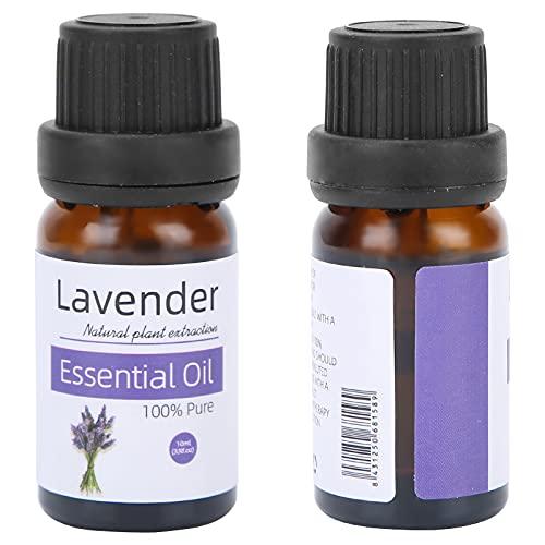 Aceite esencial natural, 10 ml de aceite esencial para masajes corporales, lavanda, menta, pomelo, velas de jabón para bricolaje, bombas de baño, ayuda a dormir(lavanda)