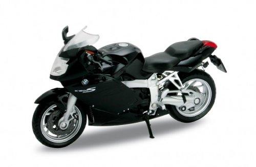 BMW K1200S, schwarz, Welly Motorrad Modell 1:18