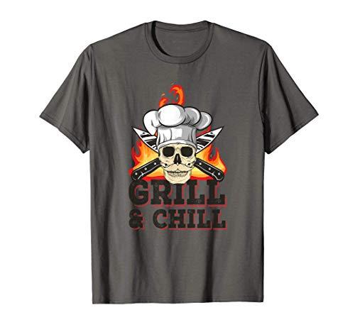 Herren Grillen Grillmeister Grill & Chill Griller T-Shirt