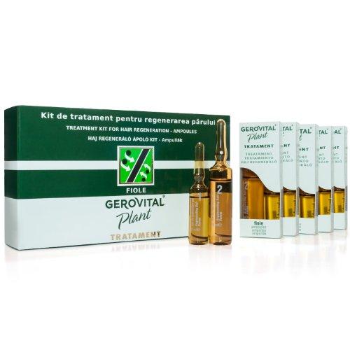 GEROVITAL PLANT Haarkur Pflegeset mit 20 Ampullen. Vitamin A,E & B5; Keratin und Pflanzenextrakten.