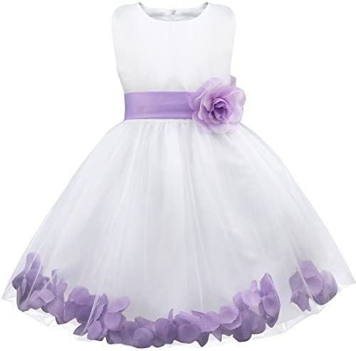 FEESHOW Wedding Pageant Petals Flower Girl Dress Bridesmaid Formal Graduation Party Prom Gown product image