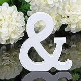 takestop® - Letras del Alfabeto de Madera Blanca de 11 cm de Altura para decoración de Bodas o cumpleaños
