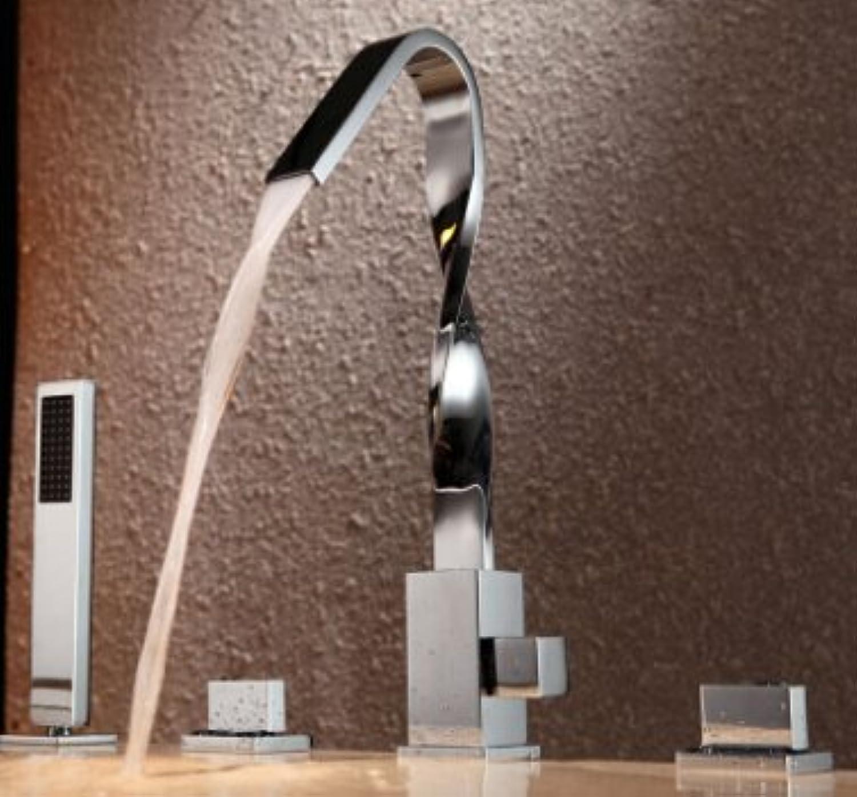 Luxurious shower Kostenloser Versand Badezimmer Badewanne Armatur Wasserhahn dusche Messinggehuse mit aus Messing Griff ShowerTap Badewanne Armatur Set BF101, Hellgrau