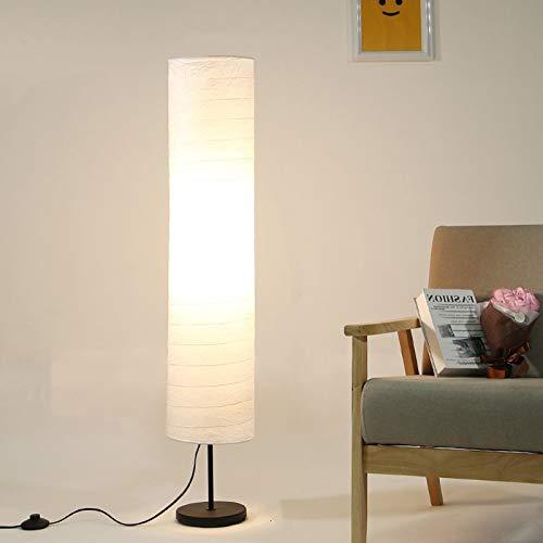 Lampara de pie Nordic Lámpara de pie Lámpara de pie de papel for sala de estar dormitorio Inicio de luminarias de estudio Decoración luces E27 de la lámpara de pie Decoración hogareña acogedora
