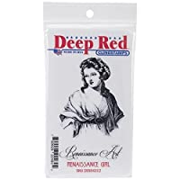 Deep Red Stamps Renaissance Girl Rubber Stamp by Deep Red Stamps [並行輸入品]