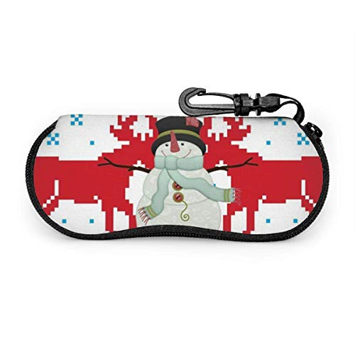 Beating Heart Gafas Estuche para anteojos Alce navideño Gafas de sol feas con hebilla de bloqueo Bolsa suave Tela de buceo ultraligera Estuche para gafas con cremallera