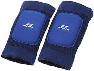 Rodilla eDealMax Deportes Soporte Mangas Conjunto 2 piezas de Protector Azul Para el alivio de la