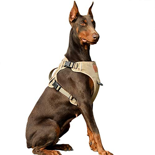 Tactical Dog Vest Harness, Reflective Military Service Training Dog Harness, No-Choke K9 Pet Working Dog, MOLLE Vest with Handle, Strap for Medium/Large Dogs