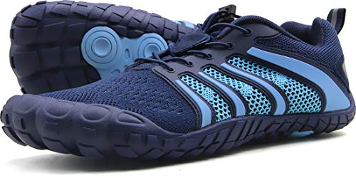 Oranginer Men's Trail Running Shoes Comfortable Wide Toe Box Shoes for Men Blue Size 6.5