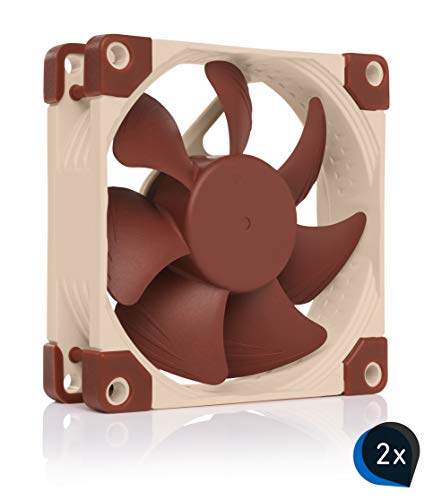 Noctua Bundle: 2x NF-A8 ULN, Ventilador Ultra Silencioso, 3 Pines (80 mm, Marrón)