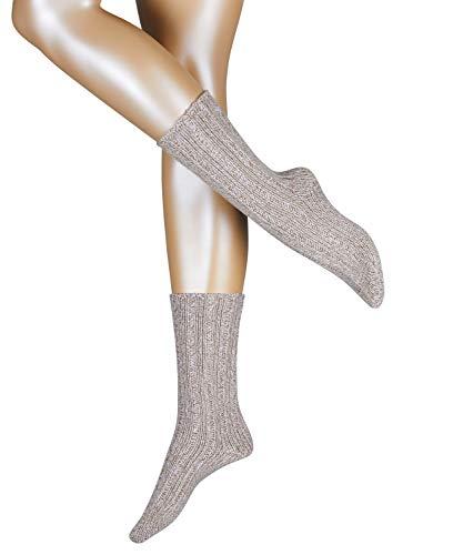 ESPRIT Damen Socken Rough Boot - Wolle-/Kaschmirmischung, 1 Paar, Braun (Nutmeg Melange 5410), Größe: 39-42