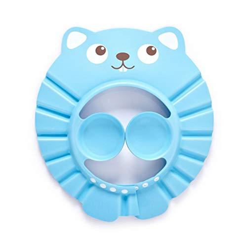 buycheapDG(JP) シャンプーハット シャワーキャップ ベビー 子供用 幼児 赤ちゃん 水遊び お風呂 目を保護 おもちゃ 4段階 サイズ調整 耳あて付き 洗髪 防水帽子 バスグッズ フラワーデザイン 着脱便利