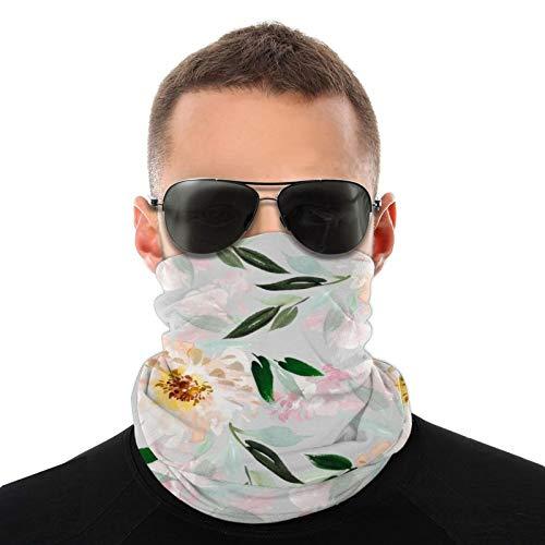 Patrón de verano con flores de acuarela Bufandas cálidas unisex Pañuelos para la cabeza Sombreros multifuncionales para toallas faciales elásticas Bufandas lavables 20x10 pulgadas