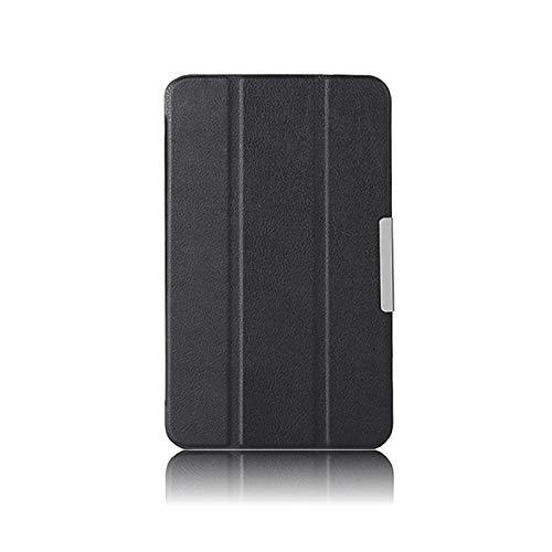 para LG G Pad 8.3 V500 V510 Gpad 8.3 Funda de Tableta Funda de Cuero Ultrafina PU Flip Fold Funda Protectora Funda Ereader para Tableta-Negro