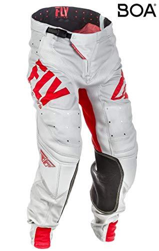 Fly Racing Lite Hydrogen Motocross broek, rood-grijs, maat: 28, MX Pant Mountainbike MTB