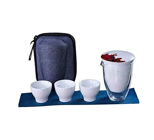 GUOSHUCHE Kettle Estilo japonés Juego de té rápido de pasajeros Copa del Recorrido del hogar al Aire Libre Portable del Filtro Taza de té con la Taza de Cristal