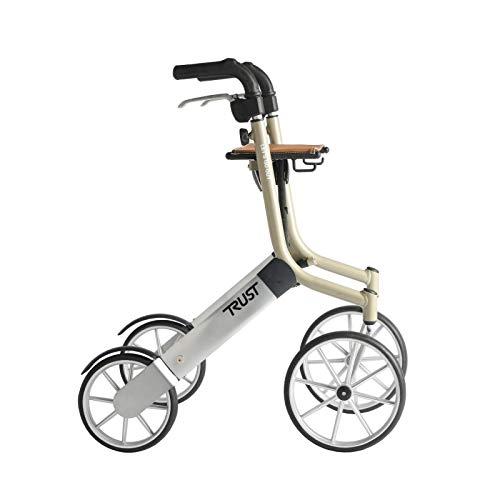 Trustcare Let's Go Out - Andador con ruedas, color beige y plateado ✅