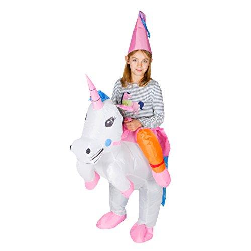 Bodysocks® Aufblasbares Einhorn Kostüm für Kinder