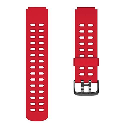 YAMAY Cinghia di Ricambio per SW020 Smart Watch IP68 (Rosso)