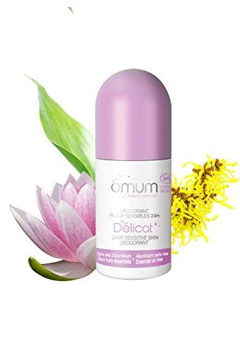 OMUM Le Delicat - Desodorante orgánico para pieles sensibles de 24 h – Lote de 2