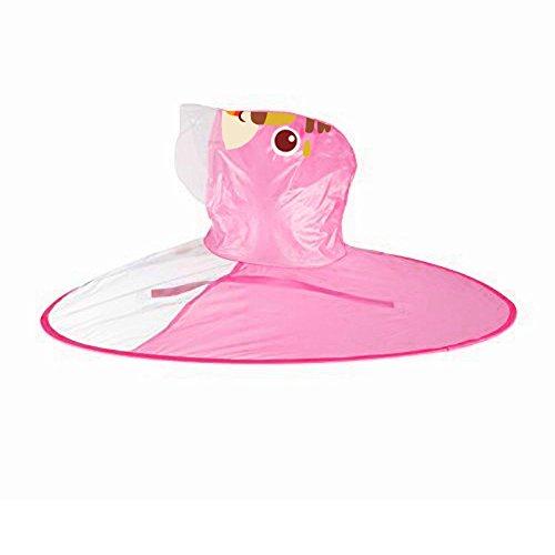 Moent Conjunto de trajes para niñas, lindo abrigo de lluvia UFO para niños, paraguas mágico, manos libres, para Pascua niños, ropa de lluvia para regalos de fiesta (rosa, 1 unidad)