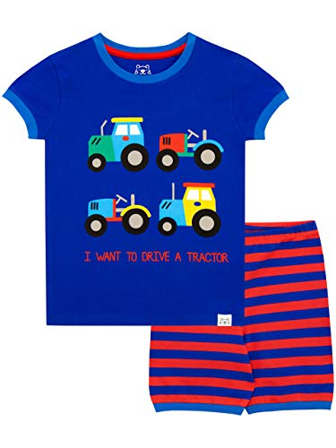 Harry Bear Jungen Traktor Schlafanzug Kurz Blau 92