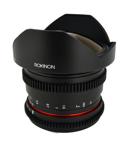 Rokinon RKHD8MV-C HD 8mm t/3.8 Fisheye Fixed Lens for Canon with...