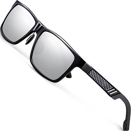 ATTCL Unisex Stil Polarisierte Fahren Sonnenbrille Herren Damen 16560black-silver