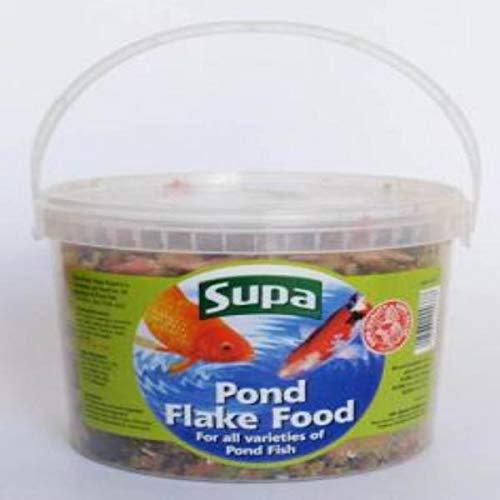 Supa - Comida en copos para carpas peces de estanque (3L) (Puede variar)