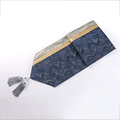 DXNXLLY Decoración hogareña Diamantes de Lujo Bandera de Mesa de Costura Jacquard luz de la Tabla Flecos Toalla Bandera para decoración de Fiesta en casa (Color : Z, Size : 32 * 210cm)