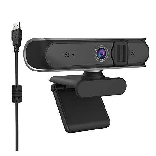 iFCOW Cámara web con micrófono 5MP USB Autofocus Webcam para computadora portátil PC de escritorio