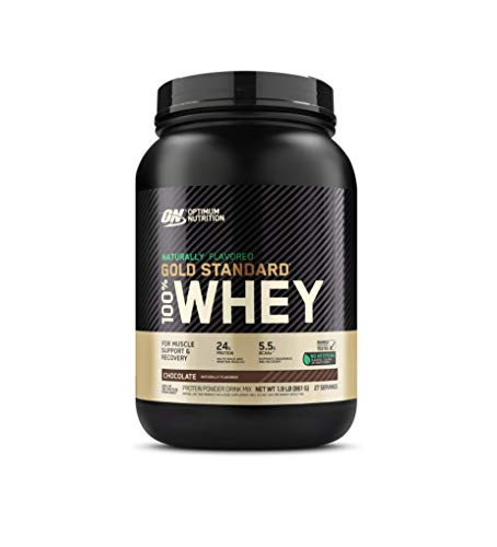 Optimum Nutrition Gold Standard 100% Whey Protein Powder, Naturally Flavored Chocolate, 1.9 Pound (Packaging May Vary)