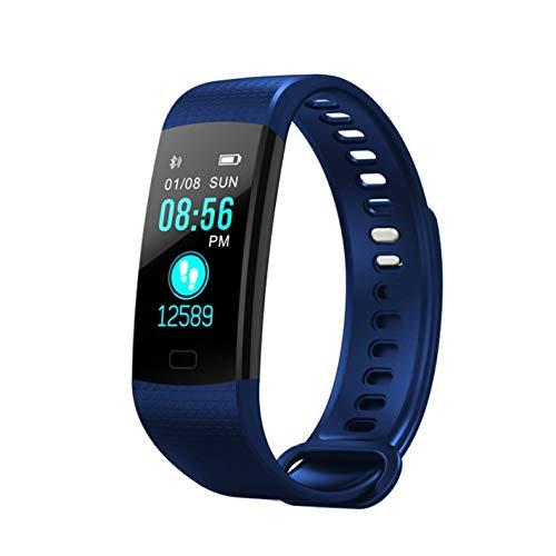 Adoolla Y5 Bracelet intelligent avec écran couleur de fréquence cardiaque, pression artérielle, oxygène dans le sang, suivi de la santé, podomètre, montre intelligente Bleu
