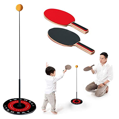 Review Of SKYHY224 Table Tennis Trainer Elastic Shaft Portable Table Tennis with Elastic Soft Shaft Leisure Decompression Sports for Adults and Kids Indoor Outdoor Play for Kids Children Beginners