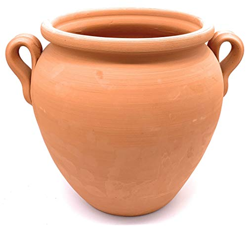 Sun Cakes Ceramic Plant Pot With Handles Terracotta Planter Clay Flower Garden Pot (H25cm)