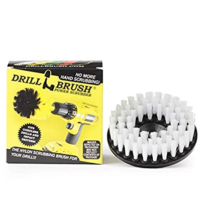 "Drillbrush Softer Bristle Scrub Brush 5"" Round with Power Drill Attachment"