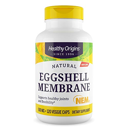 Healthy Origins - Eggshell Membrane (NEM), 500mg x 120 Vegetarian Capsules | Natural | Joint Supplement | Gluten-Free | Soy-Free | Dairy-Free