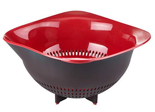 Tefal Ingenio Passoire Plastique, Ustensile de cuisine, Rebords ergonomiques, Bec verseur, Pratique et solide K2070614